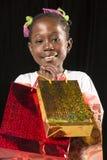 Retrato africano da menina imagem de stock