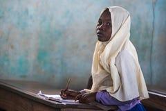 Retrato africano da menina fotos de stock royalty free
