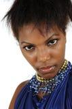 Retrato africano da mulher Fotos de Stock Royalty Free
