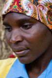 Retrato africano da mulher Fotografia de Stock