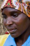 Retrato africano de la mujer Fotografía de archivo