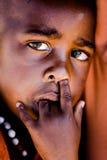 Retrato africano del niño Imagen de archivo libre de regalías