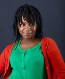 Retrato africano hermoso de la mujer fotos de archivo