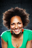 Retrato afroamericano de la mujer Foto de archivo