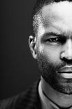 Retrato afroamericano intenso del estudio Foto de archivo libre de regalías