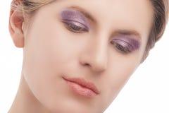 Retrato da beleza do close up Fotografia de Stock Royalty Free
