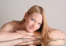 Retrato agradável da mulher Foto de Stock Royalty Free