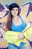 Retrato agradável do adolescente da jovem mulher Fotografia de Stock