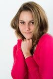 Retrato aislado del adolescente joven alegre Fotos de archivo libres de regalías