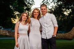 Retrato al aire libre de la familia Fotografía de archivo