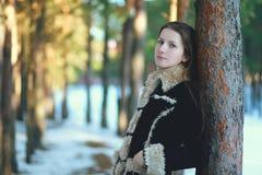 Retrato al aire libre de la muchacha linda Imagenes de archivo
