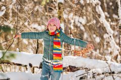 Retrato al aire libre de la niña adorable Fotografía de archivo