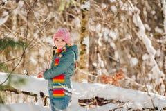 Retrato al aire libre de la niña adorable Imágenes de archivo libres de regalías