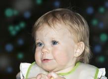 Retrato al aire libre de la noche del bebé Imagen de archivo libre de regalías