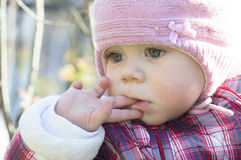 Retrato al aire libre del bebé Fotografía de archivo