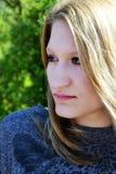 Retrato al aire libre hermoso de la mujer joven Fotografía de archivo libre de regalías