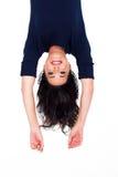 Mujer upside-down Imagen de archivo libre de regalías