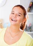 Retrato alegre de la muchacha Foto de archivo