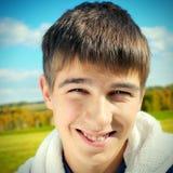 Retrato alegre do adolescente Fotos de Stock Royalty Free