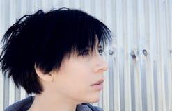 Retrato alternativo de la muchacha en retrato Imagen de archivo libre de regalías