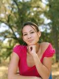 Retrato americano asiático novo da mulher Imagens de Stock