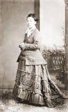 Retrato antigo de uma senhora Fotografia de Stock