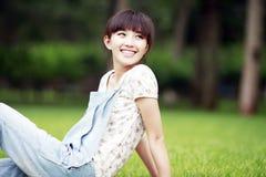 Retrato ao ar livre da beleza de Ásia Imagem de Stock Royalty Free