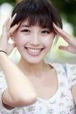 Retrato ao ar livre da beleza de Ásia Fotos de Stock Royalty Free