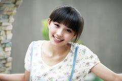 Retrato ao ar livre da beleza de Ásia Imagens de Stock