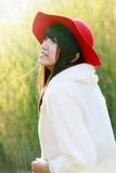 Retrato ao ar livre da menina asiática Imagens de Stock