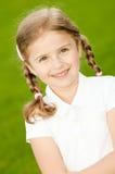 Retrato ao ar livre da menina bonita Fotos de Stock Royalty Free