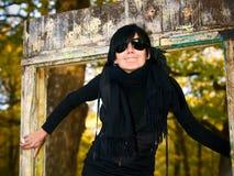 Retrato ao ar livre da mulher nova Foto de Stock Royalty Free