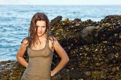Retrato ao ar livre da mulher nova Imagens de Stock Royalty Free