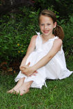 Retrato ao ar livre da rapariga Imagens de Stock