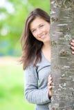Retrato ao ar livre de um adolescente bonito Fotografia de Stock