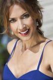 Retrato ao ar livre de uma mulher bonita Imagens de Stock Royalty Free