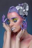 Retrato artístico da mulher Imagens de Stock Royalty Free