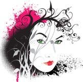 Retrato asiático 03 do estilo Ilustração Stock