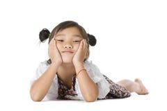 Retrato asiático bonito da menina fotos de stock royalty free