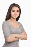 Retrato asiático casual de la muchacha Mujer hermosa Foto de archivo