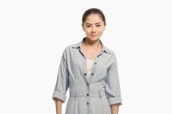 Retrato asiático casual de la muchacha Mujer hermosa que anticipa Fotografía de archivo libre de regalías