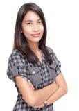 Retrato asiático confidente de muy buen gusto de la muchacha Imágenes de archivo libres de regalías