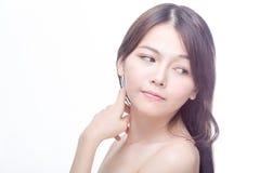 Retrato asiático da beleza Fotografia de Stock Royalty Free