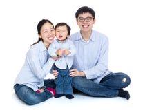 Retrato asiático da família foto de stock