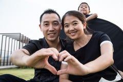 Retrato asiático da família Fotografia de Stock Royalty Free