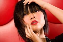 Retrato asiático da forma foto de stock