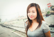 Retrato asiático da mulher Imagem de Stock Royalty Free