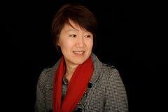 Retrato asiático da mulher imagem de stock