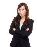 Retrato asiático de la empresaria Fotos de archivo libres de regalías