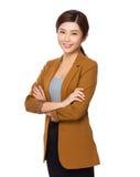 Retrato asiático de la empresaria Imagenes de archivo